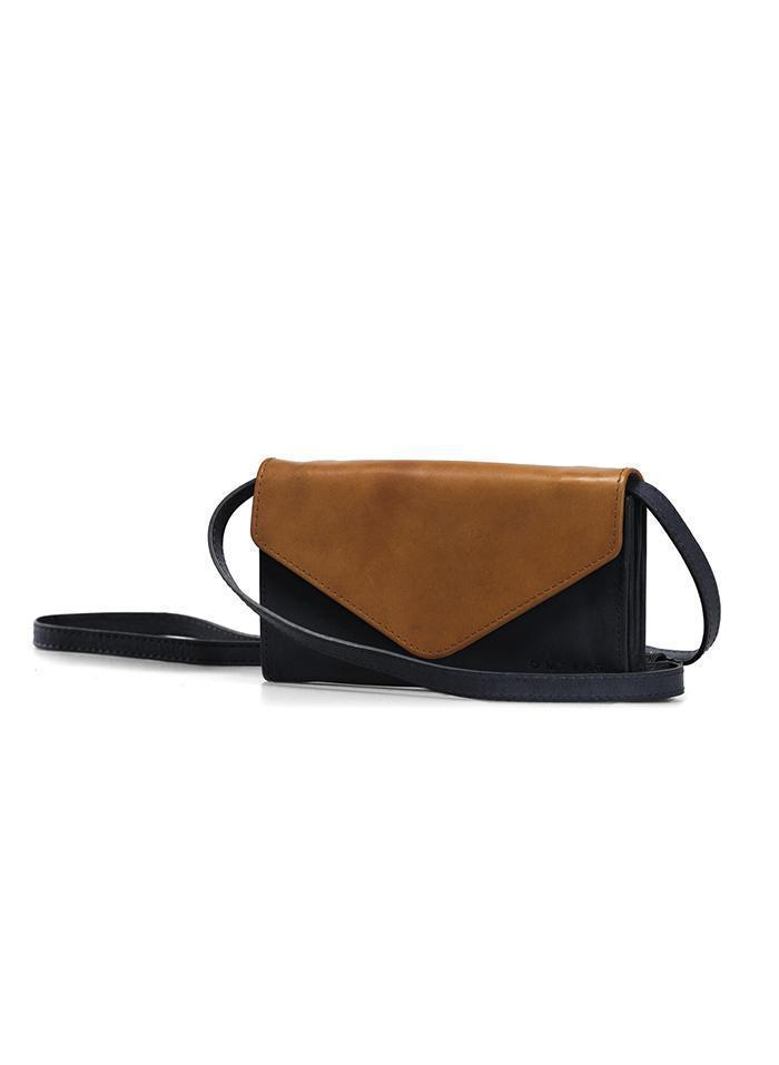 O MY BAG Accessories Black & Cognac / Classic Leather Sac à bandoulière Josephine