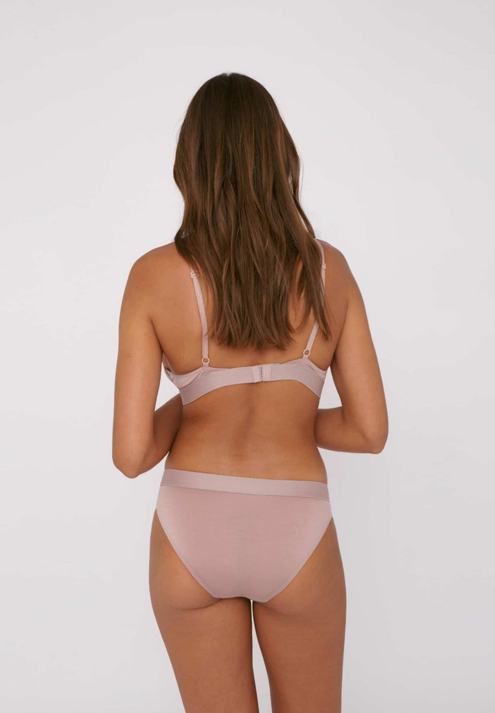 Organic Basics Underwear Soft Touch Briefs 2-pack - Dusty Rose