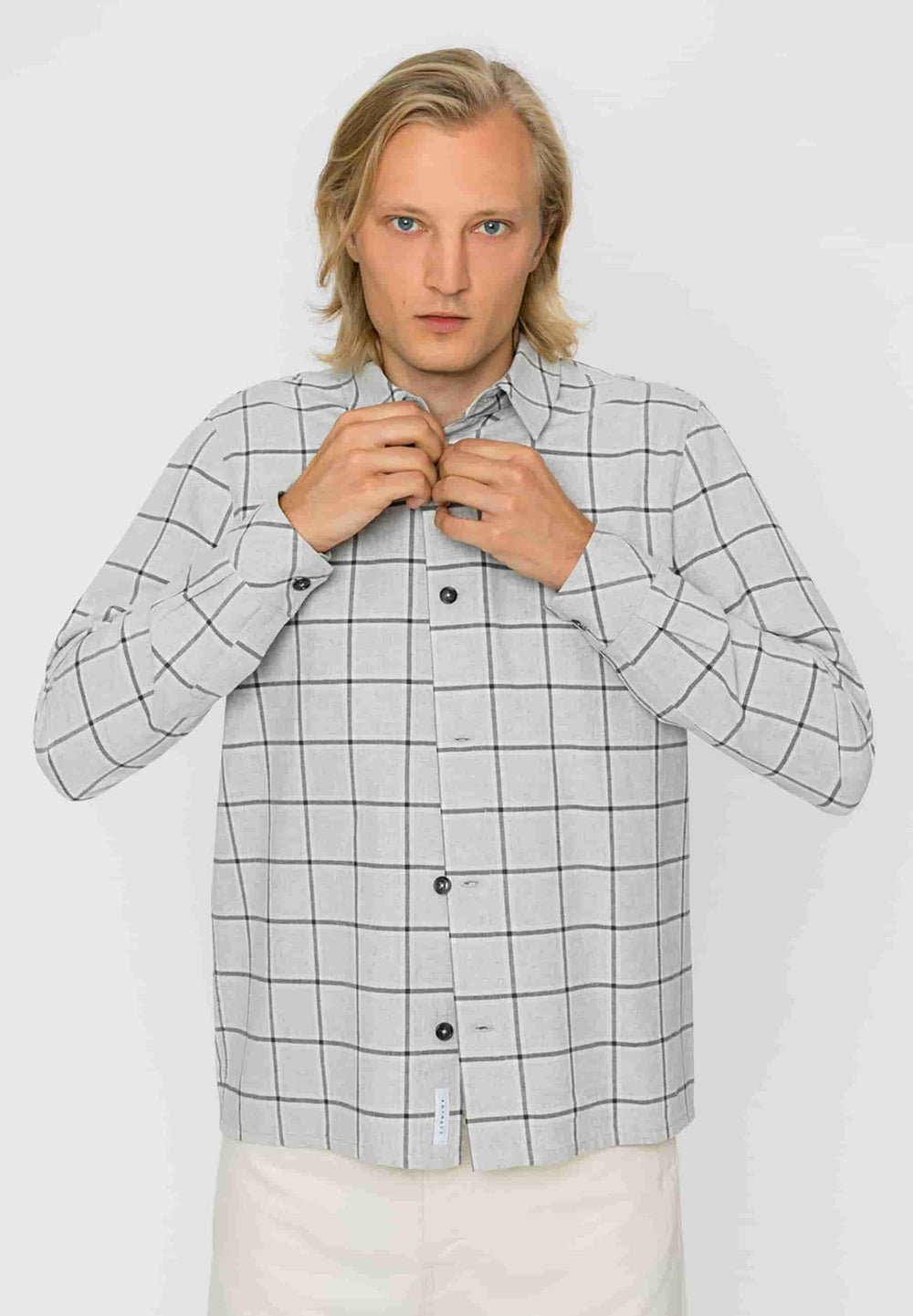 Rotholz Shirts Chemise Check Gris