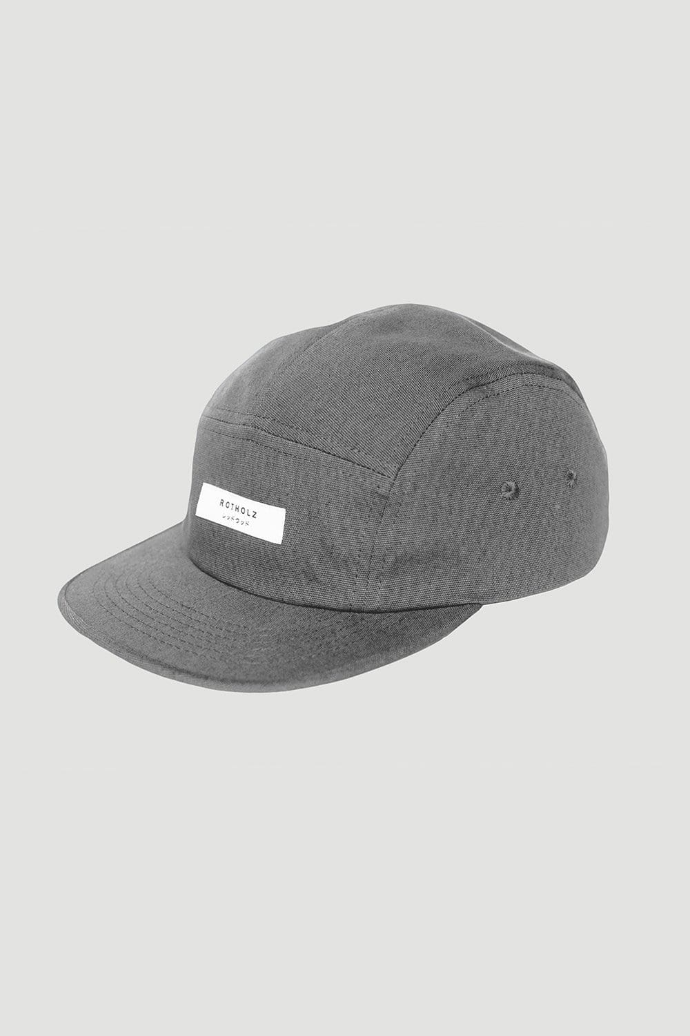 Rotholz Hats & Caps 'Label' Bio 5-Panel Grau