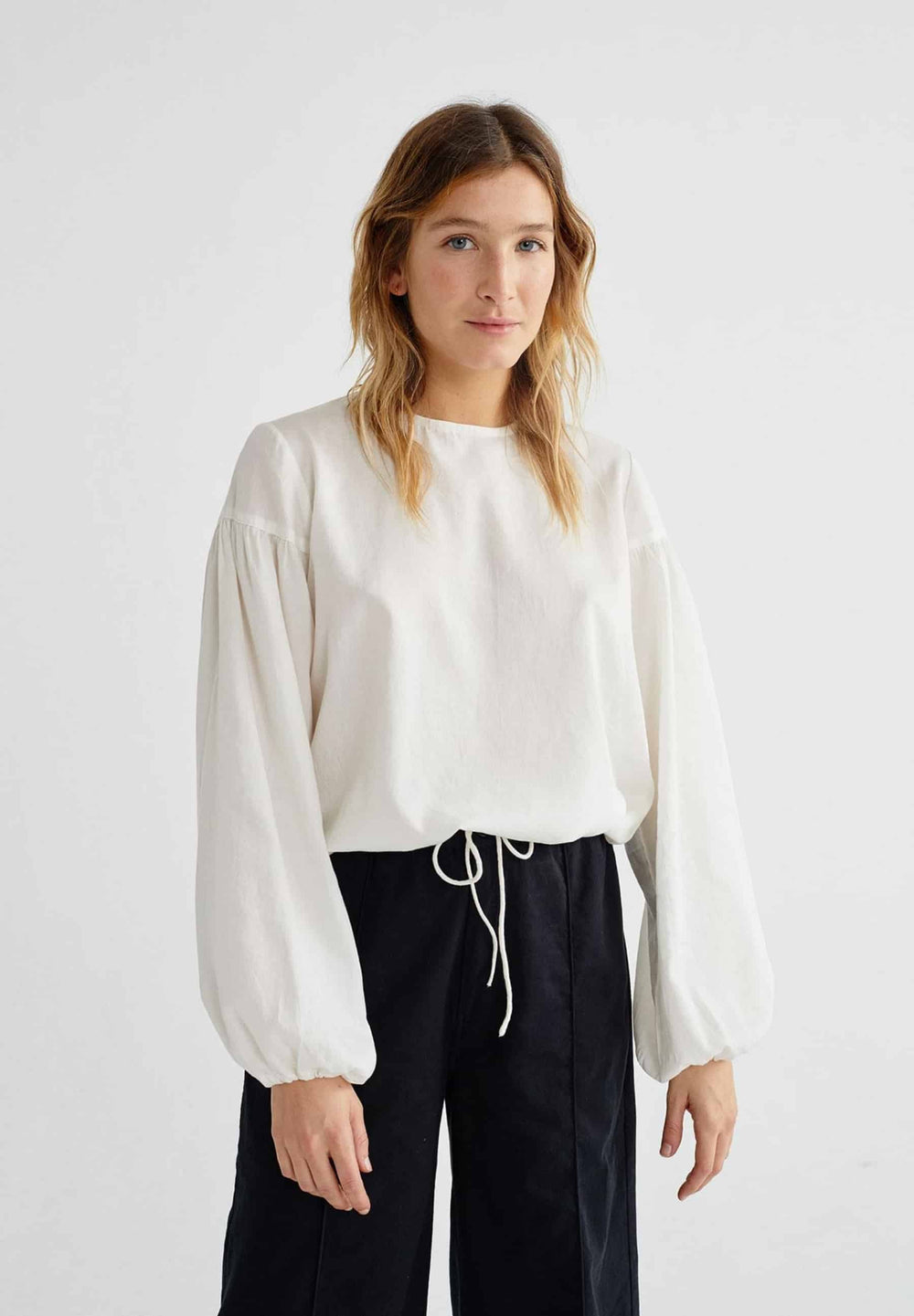 Thinking Mu Tops Blouse Boann Blanc