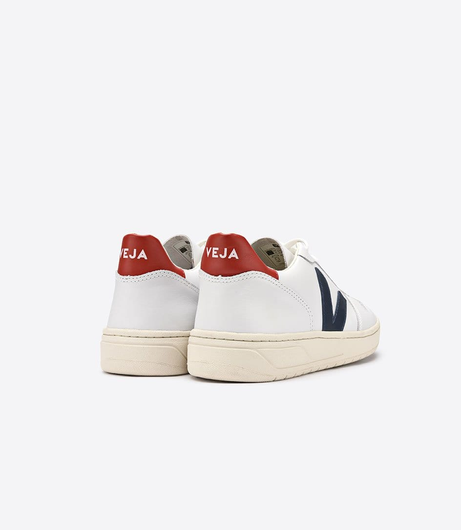 veja Sneakers Baskets Femme V10 Nautico Pekin Blanches