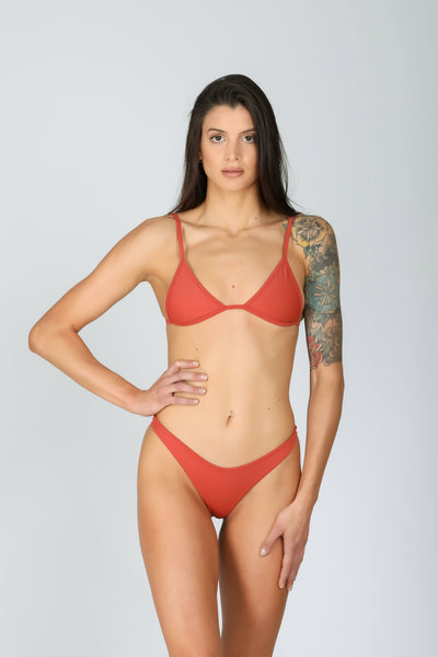 Rebel Triangle: bikini a triangolo, bikini top triangolo 4#color_rusty