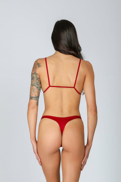 Peachy Bottom: bikini perizoma, bikini mare tanga 6#color_red-wine