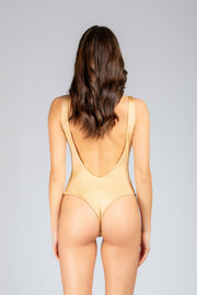 Dare To Bare One Piece: costume intero mare, bodysuit mare 7#color_champagne
