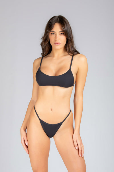 Gipsy Top: bikini scollo rotondo#color_black-ribbed