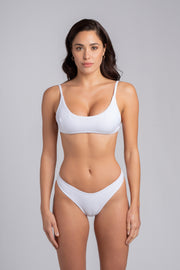 Gipsy Top 2.0: swimsuit top, swimwear costumi 2#color_ribbed-white