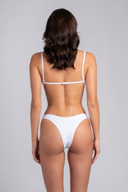Gipsy Top 2.0: swimsuit top, swimwear costumi 3#color_ribbed-white