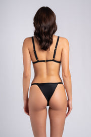 Myra Bottom Black: costume da bagno donna a vita alta