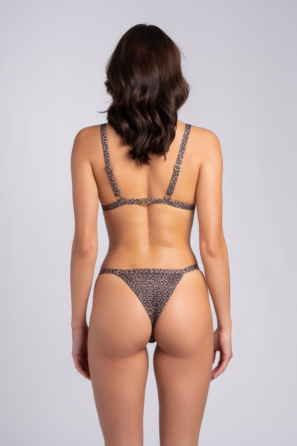 Myra Bottom Leo: tanga donna animalier