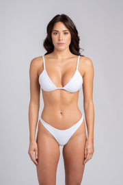 Peachy Bottom White: slip brasiliana, perizoma mare bianco 1
