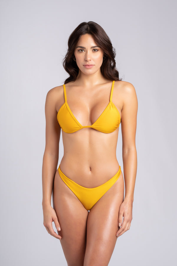 Rebel Triangle 2.0 Mustard: bikini triangolo, bikini triangolo giallo