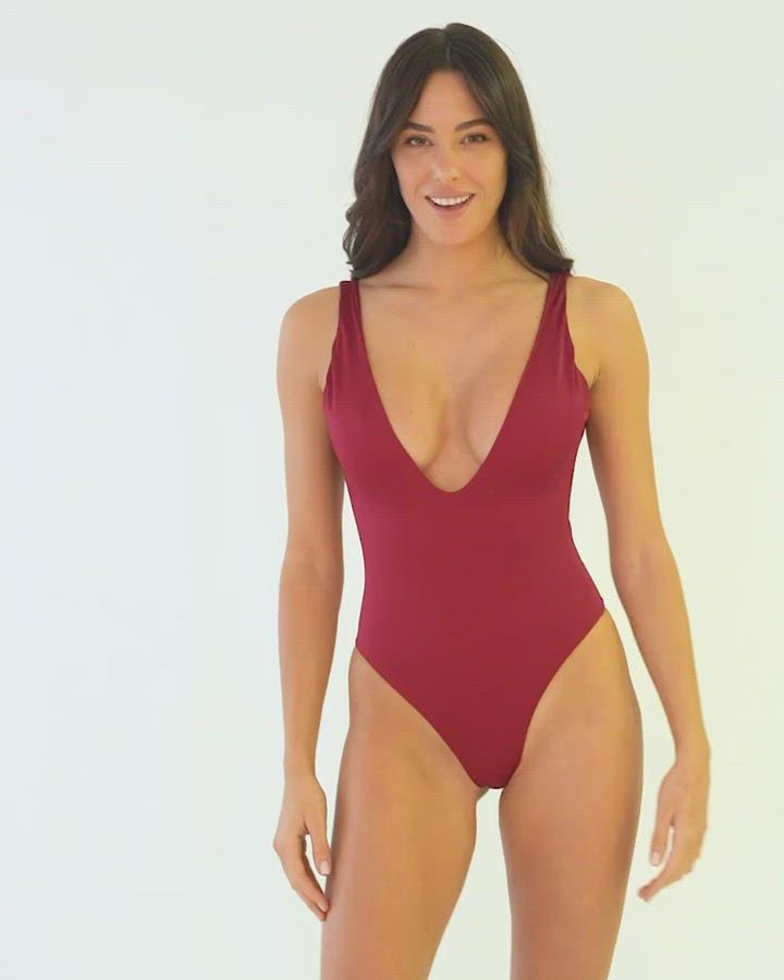Dare To Bare One Piece Red Wine