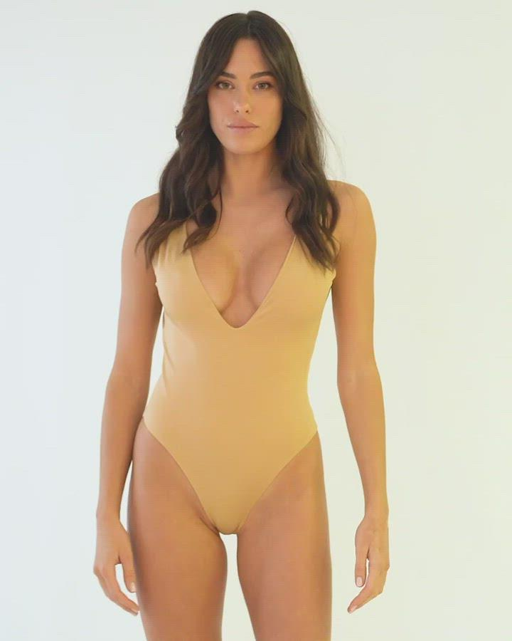Dare To Bare One Piece Champagne