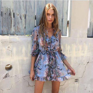 Rent Winsome Ruffle Playsuit - Hire Society