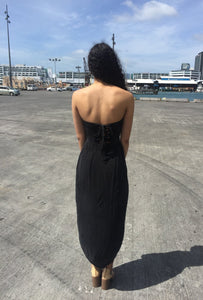 Rent Draped Strapless Maxi - Hire Society