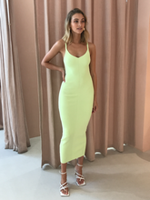 Citrus Club Knit Midi - Lime