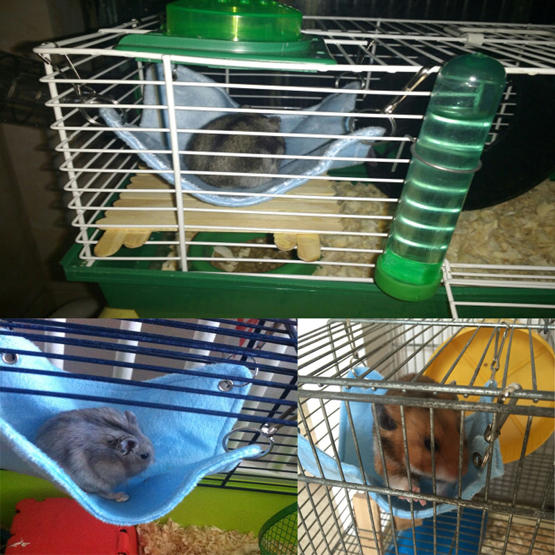 Small Guinea Pig Rabbit Hamster Hanging Pet Hammock Chinchilla Bed
