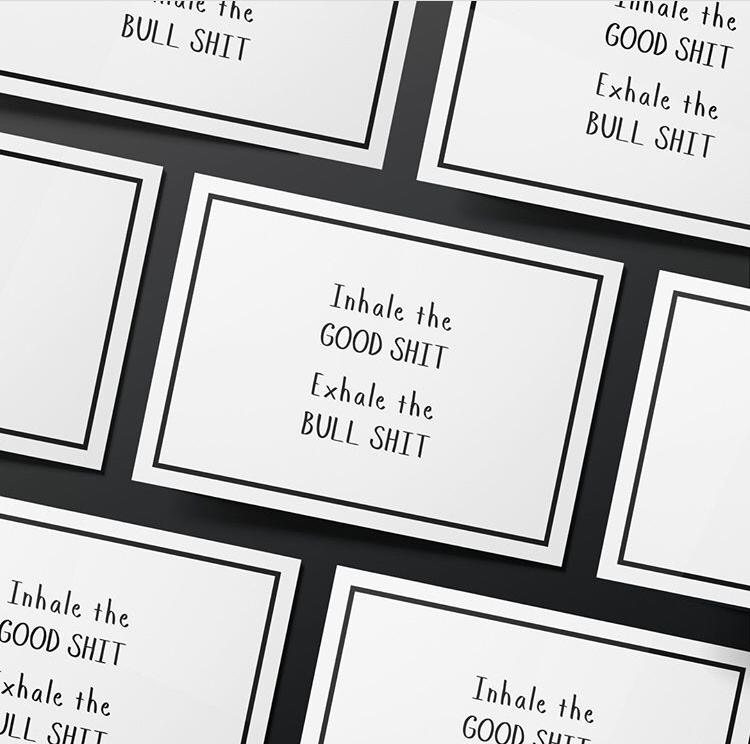 Inhale The Good Shit Card - Bad Day Bandage, Card - Bramley & White | Upholstery, Homewares & Furniture