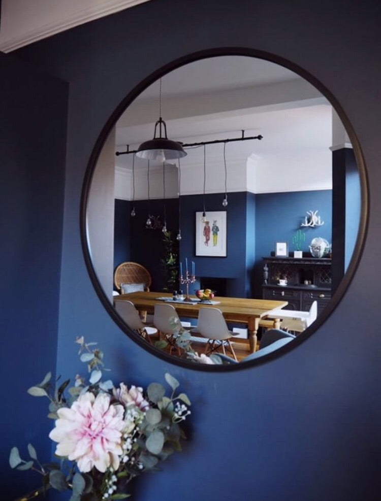 LARGE HUB mirror- amazing rubber edge,  - Bramley & White | Upholstery, Homewares & Furniture