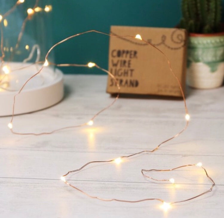 Led Copper Twinkle Lights,  - Bramley & White | Upholstery, Homewares & Furniture