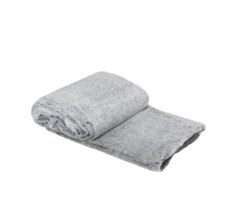 Ultra soft throw - light grey