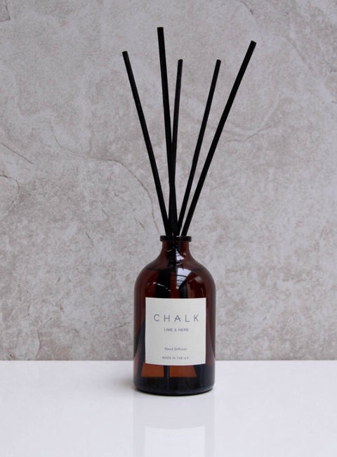 Chalk - 100ml Lime & Herb Amber Glass Diffuser,  - Bramley & White | Upholstery, Homewares & Furniture