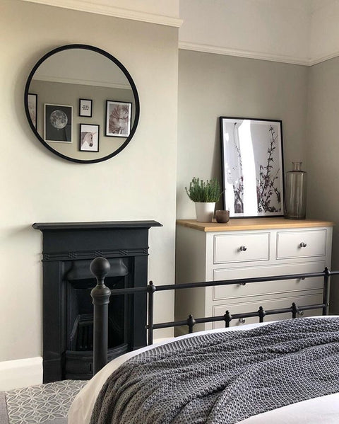 Small HUB mirror- Black - 45cm fia,  - Bramley & White | Upholstery, Homewares & Furniture