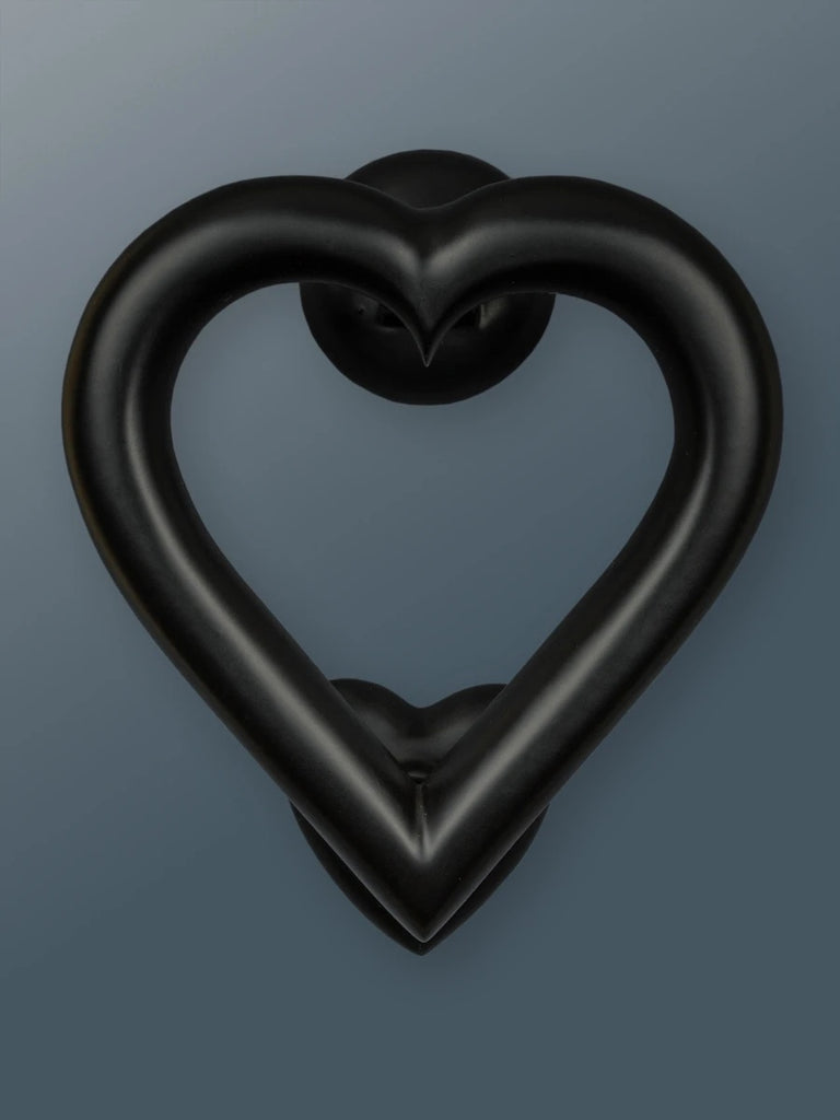 Door Knocker - Heart (Black Finish)