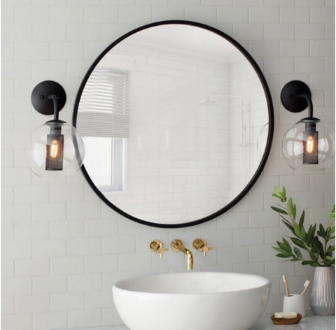 LARGE HUB mirror- Black,  - Bramley & White | Upholstery, Homewares & Furniture