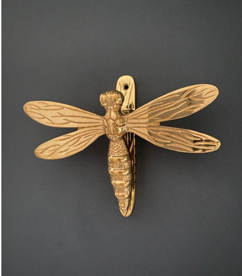 Dragonfly knocker- Brass