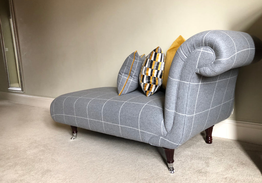 Mrs Elizabeth chaise longue,  - Bramley & White | Upholstery, Homewares & Furniture
