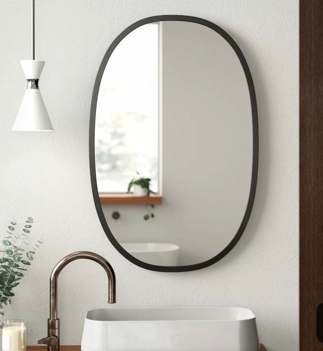 Umbra Oval HUB mirror- large,  - Bramley & White | Upholstery, Homewares & Furniture
