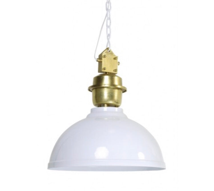 Clinton Hanging Light - White and gold,  - Bramley & White | Upholstery, Homewares & Furniture