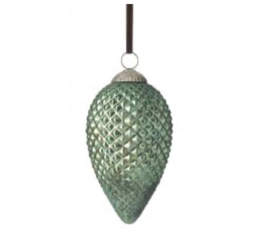 Hanging green teardrop bauble,  - Bramley & White | Upholstery, Homewares & Furniture