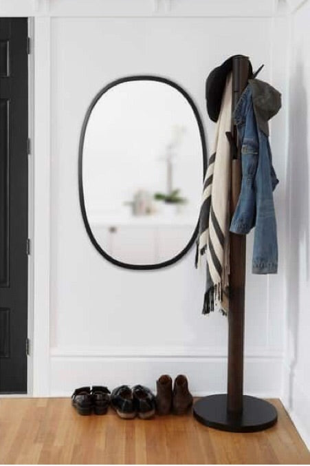 Umbra Oval HUB mirror- amazing rubber edge,  - Bramley & White | Upholstery, Homewares & Furniture