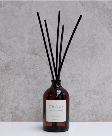 Chalk- 100ml Lavender & Geranium glass Diffuser,  - Bramley & White | Upholstery, Homewares & Furniture