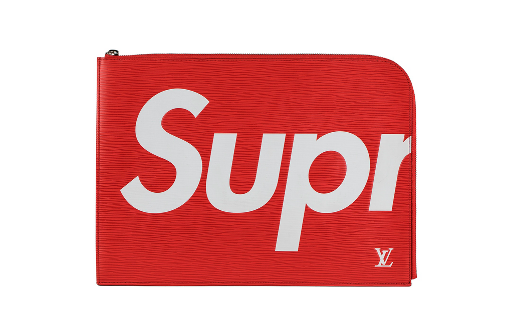 Louis Vuitton x Supreme Pochette - Rød