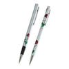 Mackintosh red rose rollerball and pen set