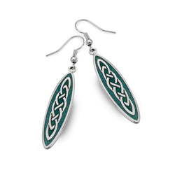 Long celtic knot earrings