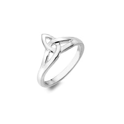 Trinity knot crown ring