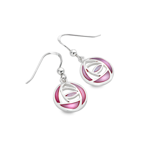 Mother of pearl rose earrings