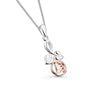 Mackintosh rose stem pendant