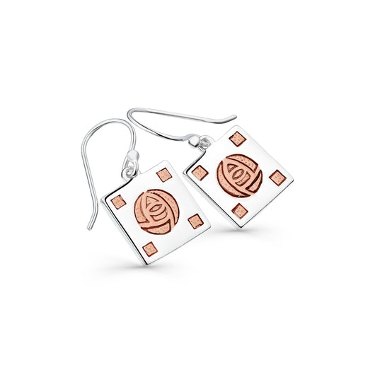 Classic mackintosh rose earrings