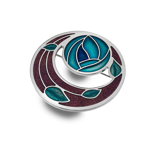 Mackintosh rose garden brooch
