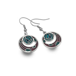 Mackintosh rose garden earrings