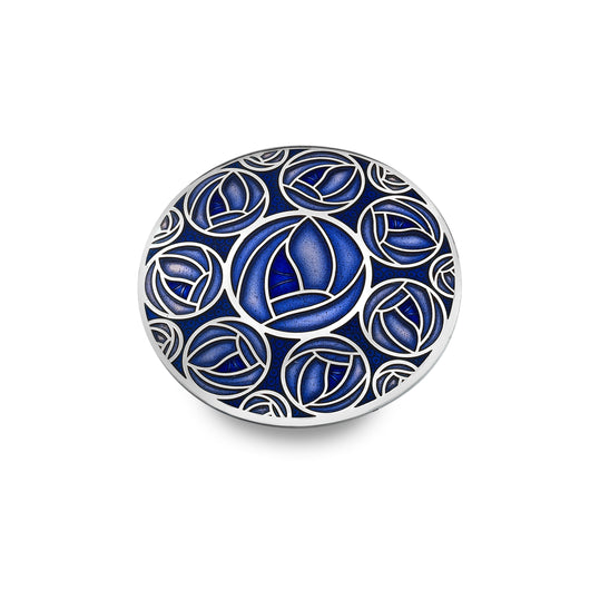 Mackintosh Multiple Blue Roses Brooch