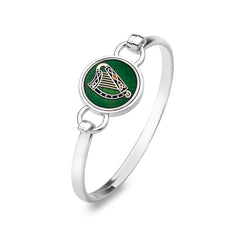 Enamel Irish harp bangle