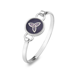Purple trinity knot bangle