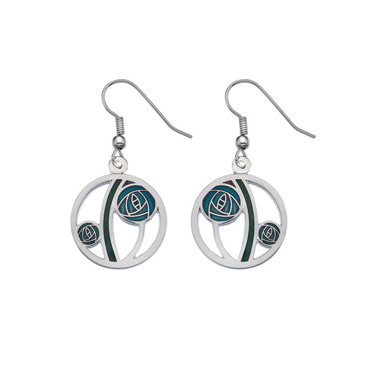 Mackintosh Turquoise Rose Cut Out Earrings